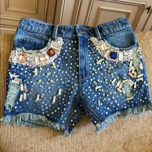 Ashish Sequin & Jeweled Shorts
